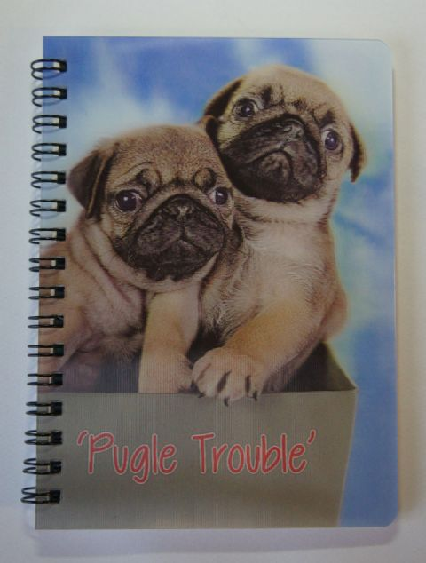 PUGLE TROUBLE NOTEBOOK